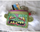 Zombie - coin purse - wallet - humor -MTO