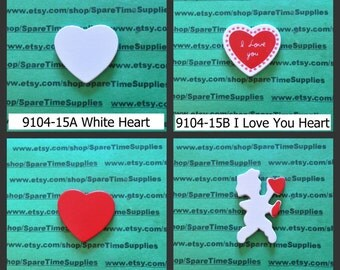 Tiny Treasures - Valentines - pre painted wood shapes - assorted designs - 1 pc