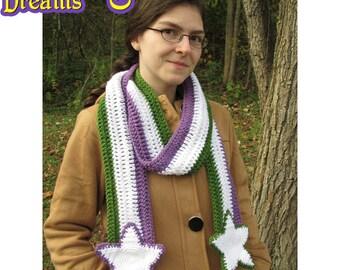 Genderqueer Pride Scarf Crochet Stars