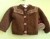 Cotton Gingerbread Cardigan 3-6 months