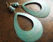 By the Shore Howlite Beaded Dangle earrings