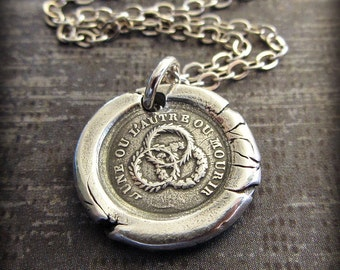 Unity Wax Seal Necklace - Strength in Unity - antique wax seal necklace - FP440