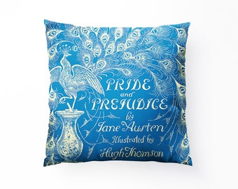 Jane Austen // Pride & Prejudice Pillow // Throw Pillow, With or Without Insert - Made in USA