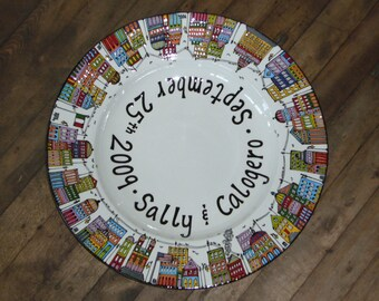 Wedding Platters - Personalized City Scapes
