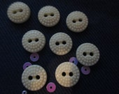 Lot of 8 Glass Buttons Two Hole Vintage  FREE SHIPPING