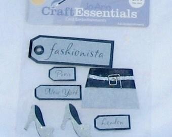 Fashion, tags, stickers, girl stuff, shoes, purse, fun, F, destash