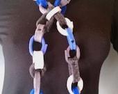 Chain Reaction Felt Necklace Lariat Belt