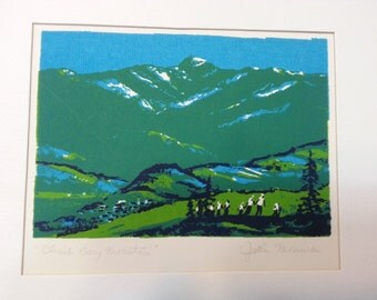 "John Mosiman original signed serigraph ""Climb Every Mountain"" landscape limited"