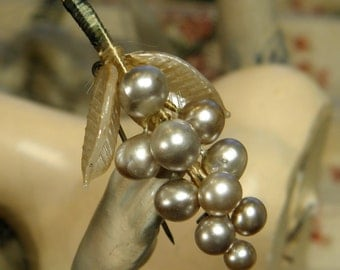 Vintage Glass Pearl Pin Made in Japan