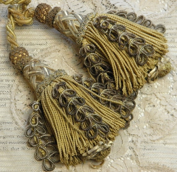 Large Tassels Home Decor: Vintage Tassels Passementerie Large Upholstery Decorating