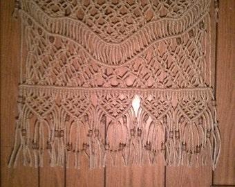 Macrame Window Tapestry Fiber Art Home Decor Hanging