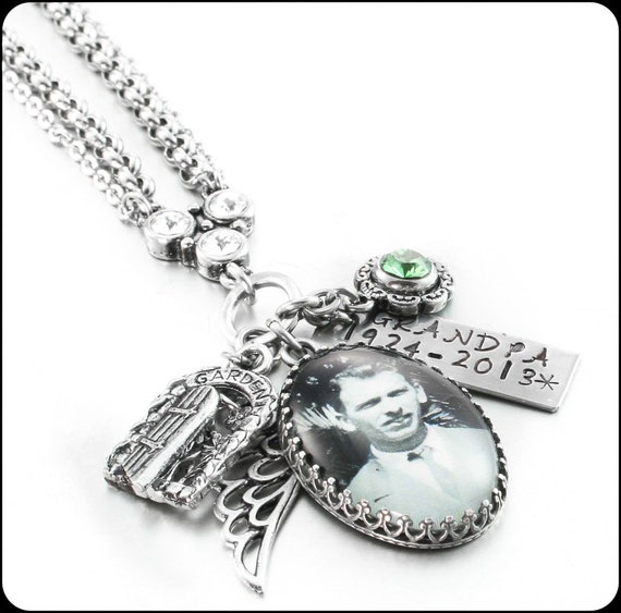 Memory Charm Bracelets: Memorial Jewelry Custom Memory Necklace Mom By