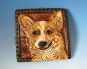 Pembroke Corgi  - Handmade Ceramic Dog Tile