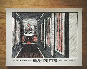 Sharon Van Etten screen printed concert poster