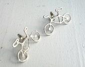 Sterling Silver Handmade Bike Cufflinks