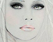 Neva 2 - Fashion Illustration Portrait Art Print by Leigh Viner
