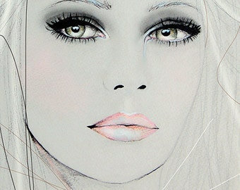 Neva 2 - Fashion Illustration Portrait Art Print by Leigh Viner
