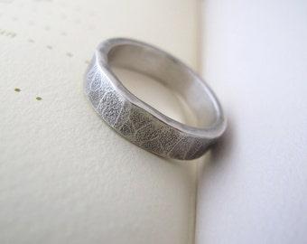 mens wedding band sterling unisex wedding band rustic modern ring