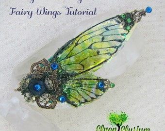 DIY how to create fancy fairy wings for polymer clay dolls or jewelry tutorial elven elysium