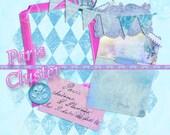Buy 1 Get 1 Free Paris Vintage Cluster - Rose Crown - French Postcard Clipart No.5 - Instant Download