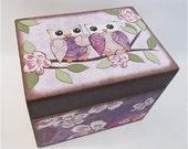Tea Box, Decoupage Wooden Tea Box, Tea Storage Box, Tea Bag Storage Box, Decorative Tea Box, Kitchen Box, Kitchen Organizer, MADE TO ORDER