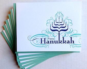 Hanukkah Card - set of six