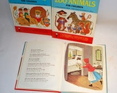 1959 book Berlitz French TheThree Bears Little Red Riding Hood language teaching unique home study method pronunciations at a glance.