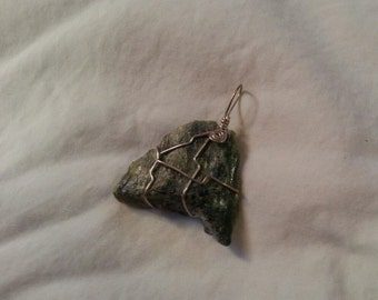 Serpentine Dream: Serpentine and Sterling Silver Pendant