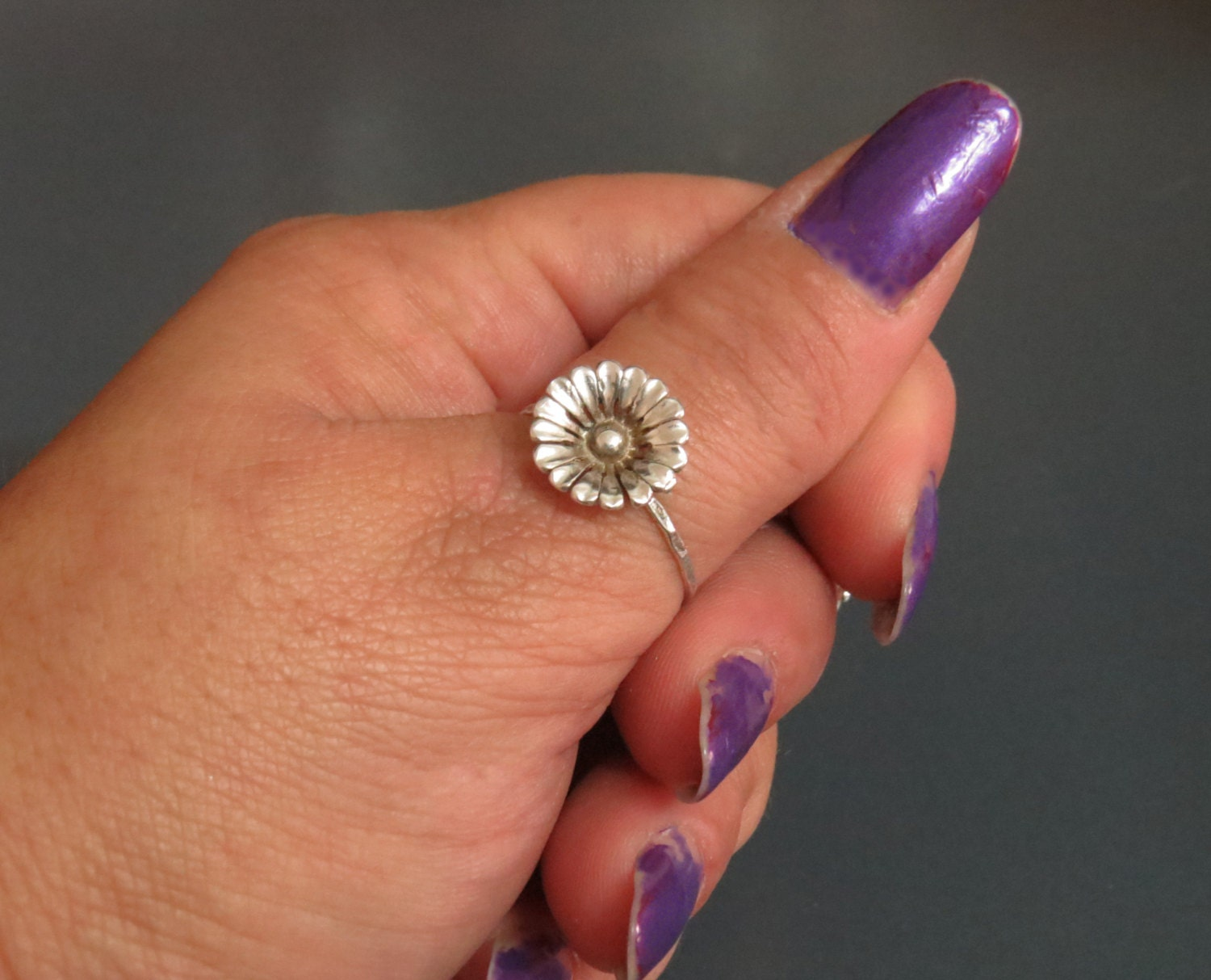 silver thumb rings for silver stacker ring by
