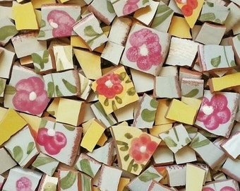 Mosaic Tiles- Florence Flower- Pottery 104 ct.