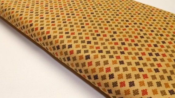 Michael Miller Stitch Diamonds in Spice Fall Brown Sewing and Quilting Fabric