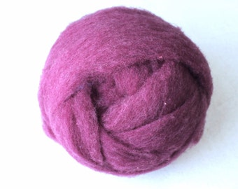 Roving for Spinning -- Polypay Wool Burgundy 14 -- 4 oz.