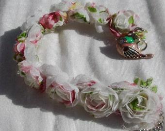 Dove Charm Flower Bracelet