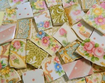 China Mosaic Tiles - Cottage Chic Collection - 130 Mosaic Tiles