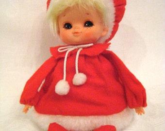 Vintage Japan MUSICAL DOLL Dreaming of a White Christmas 1960-70s