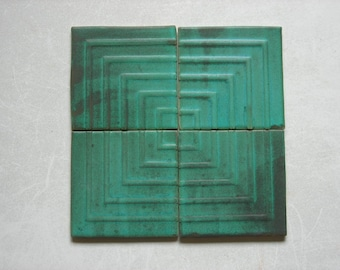 Ceramic Tiles Set of 4