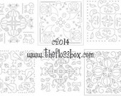 Halloween Mandala Embroidery Patterns