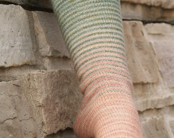The Shire Gradient Stripes Matching Socks Set, 2-50g Cakes, Lavish (dyed to order)