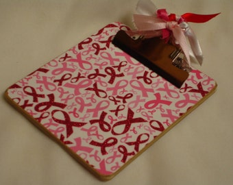 POST It NOTE magnetic CLIPBOARD Breast Cancer Awareness