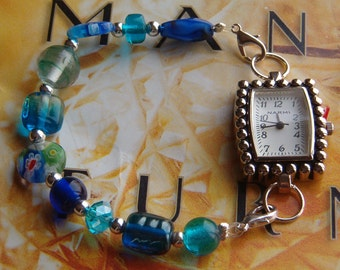 Interchangeable Bracelet Watch Band, Beaded Watch Band, Interchangeable Watch Band, Bracelet Band for Watch or Medical Alert
