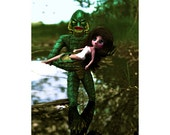 creature from the black lagoon print aceo size SWAMP TREAT