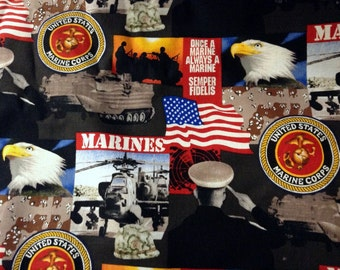 Fabric United States Marine Corps by the Half Yard