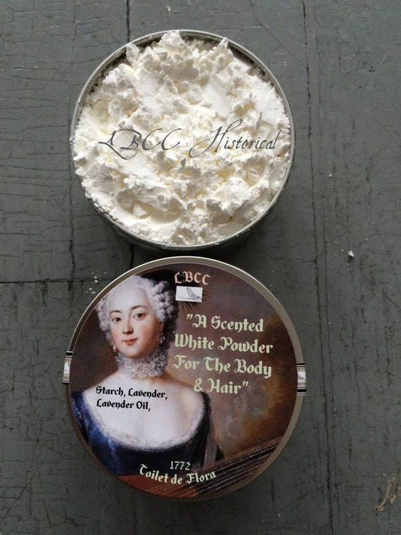 WHITE 18th Century Lavender Scented Hair and Face Powder - Toilet De Flora