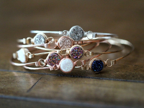 Gorgeous druzy bracelets