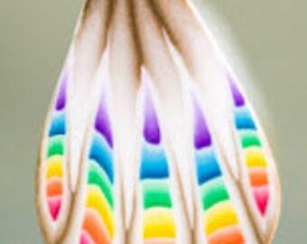 Polymer Clay Rainbow Petal Cane -'Sweet Hope' (45dd)