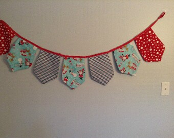 SALE Happy Holidays - Merry Christmas - Let it Snow - Fabric Banner, Bunting Decoration,  Christmas Holiday Banners, Photo Props, Bunting