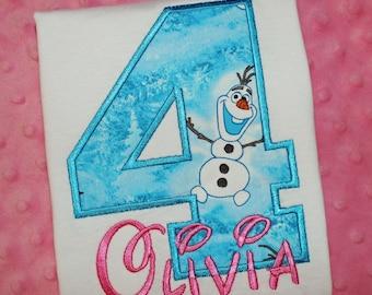 Olaf Birthday Shirt --- Monogrammed