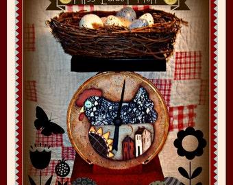 Apple Tree Cottage Original Design E Pattern  -  Miss Lacey Chicken