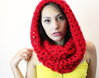 Scarf Glove Rasta Love vegan warmers favorite eternity cowl Lolly pop Red