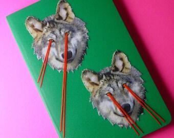 laser-eye wolves pocket notebook
